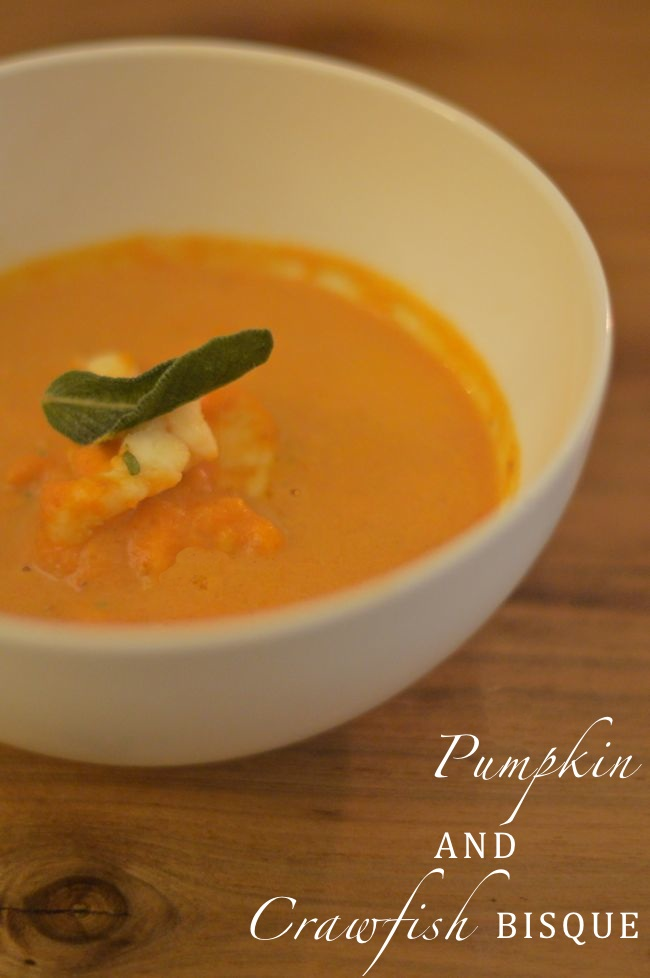 Pumpkin and Crawfish Bisque