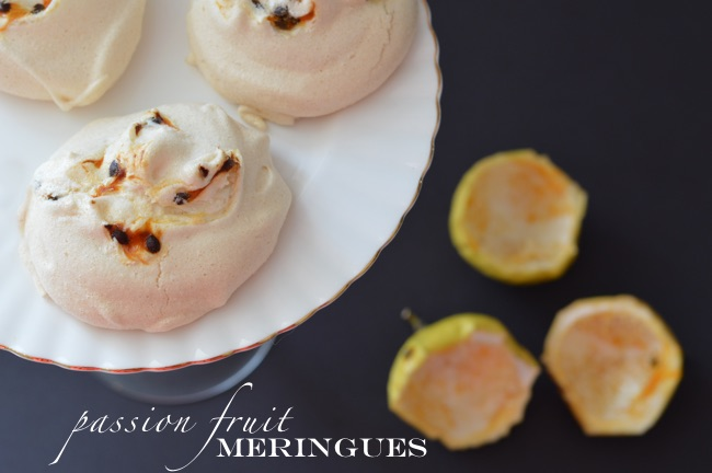 Passion Fruit Meringues
