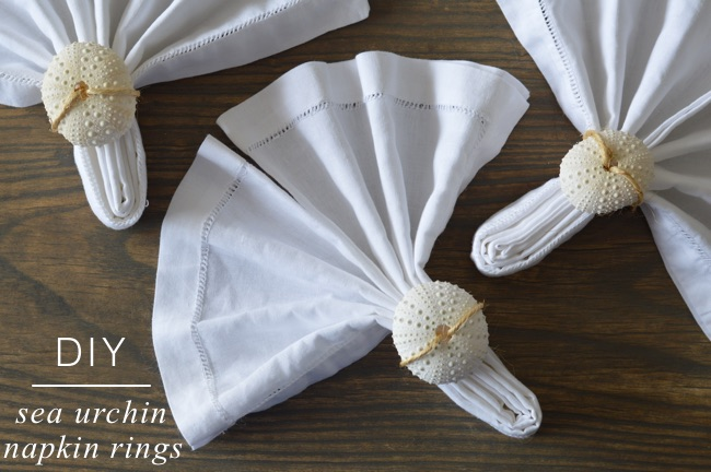 DIY: Sea Urchin Napkin Rings
