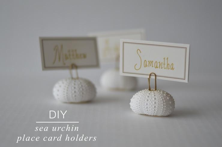 DIY: Easy Sea Urchin Place Card Holders