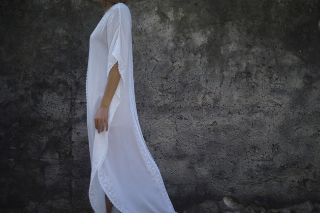 Long White Caftan
