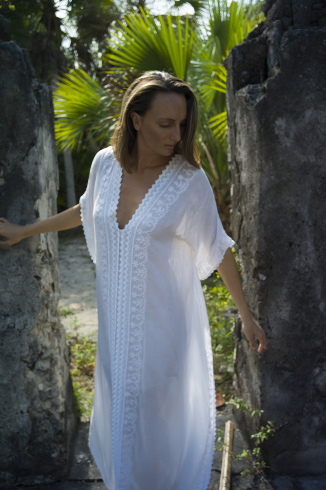 White Caftan Dress